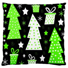 Green Playful Xmas Standard Flano Cushion Case (one Side) by Valentinaart
