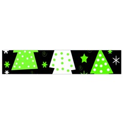 Green Playful Xmas Flano Scarf (small) by Valentinaart