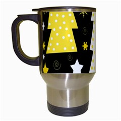 Yellow Playful Xmas Travel Mugs (white) by Valentinaart