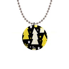 Yellow Playful Xmas Button Necklaces by Valentinaart