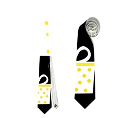 Yellow Playful Xmas Neckties (one Side)
