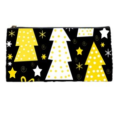 Yellow Playful Xmas Pencil Cases by Valentinaart