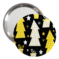 Yellow Playful Xmas 3  Handbag Mirrors by Valentinaart