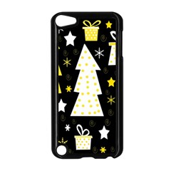 Yellow Playful Xmas Apple Ipod Touch 5 Case (black) by Valentinaart