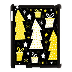 Yellow Playful Xmas Apple Ipad 3/4 Case (black) by Valentinaart