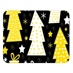 Yellow Playful Xmas Double Sided Flano Blanket (large)  by Valentinaart