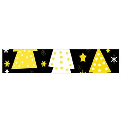 Yellow Playful Xmas Flano Scarf (small) by Valentinaart