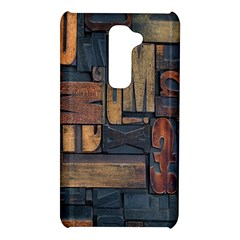 Letters Wooden Old Artwork Vintage LG G2