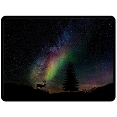 Starry Sky Galaxy Star Milky Way Double Sided Fleece Blanket (Large)  by Zeze