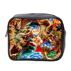 Thailand Bangkok Temple Roof Asia Mini Toiletries Bag 2-Side
