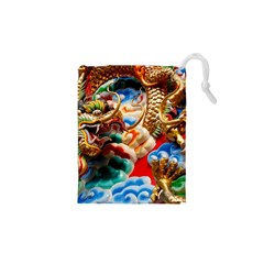 Thailand Bangkok Temple Roof Asia Drawstring Pouches (XS)  by Zeze