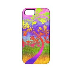 Tree Colorful Mystical Autumn Apple iPhone 5 Classic Hardshell Case (PC+Silicone)