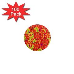 Orange Design 1  Mini Magnets (100 Pack)  by Valentinaart