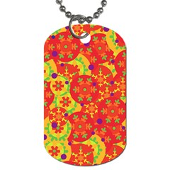 Orange Design Dog Tag (two Sides) by Valentinaart