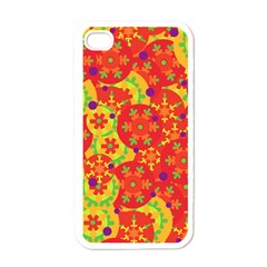 Orange Design Apple Iphone 4 Case (white) by Valentinaart