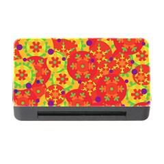 Orange Design Memory Card Reader With Cf by Valentinaart