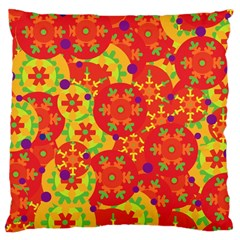 Orange Design Large Cushion Case (two Sides) by Valentinaart