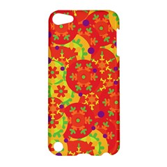 Orange Design Apple Ipod Touch 5 Hardshell Case by Valentinaart