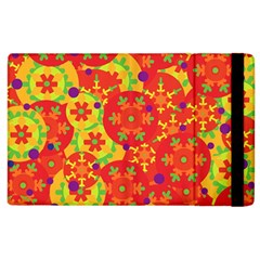 Orange Design Apple Ipad 2 Flip Case by Valentinaart