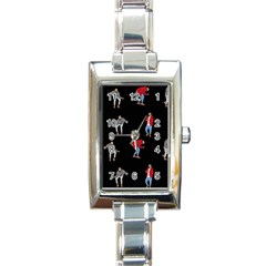 Drake Ugly Holiday Christmas Rectangle Italian Charm Watch by Onesevenart