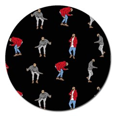 Drake Ugly Holiday Christmas Magnet 5  (round) by Onesevenart