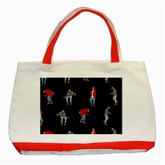 Drake Ugly Holiday Christmas Classic Tote Bag (red) by Onesevenart