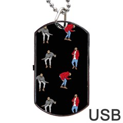 Drake Ugly Holiday Christmas Dog Tag Usb Flash (two Sides)  by Onesevenart