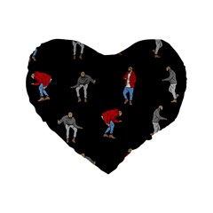 Drake Ugly Holiday Christmas Standard 16  Premium Flano Heart Shape Cushions by Onesevenart