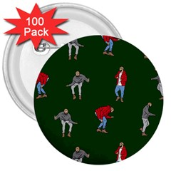 Drake Ugly Holiday Christmas 2 3  Buttons (100 Pack)  by Onesevenart