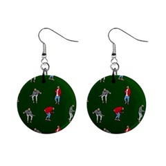 Drake Ugly Holiday Christmas 2 Mini Button Earrings by Onesevenart