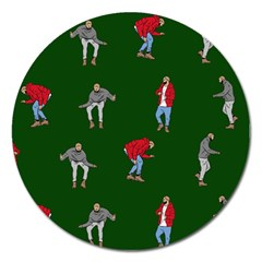 Drake Ugly Holiday Christmas 2 Magnet 5  (round) by Onesevenart