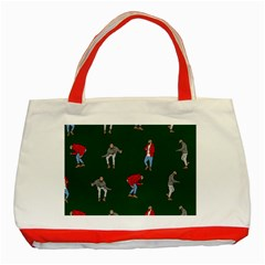 Drake Ugly Holiday Christmas 2 Classic Tote Bag (red) by Onesevenart