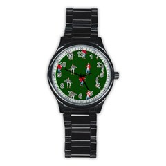 Drake Ugly Holiday Christmas 2 Stainless Steel Round Watch by Onesevenart