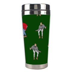 Drake Ugly Holiday Christmas 2 Stainless Steel Travel Tumblers by Onesevenart
