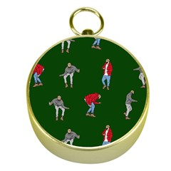 Drake Ugly Holiday Christmas 2 Gold Compasses by Onesevenart