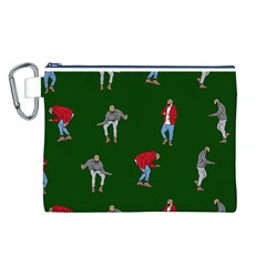 Drake Ugly Holiday Christmas 2 Canvas Cosmetic Bag (l) by Onesevenart