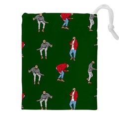 Drake Ugly Holiday Christmas 2 Drawstring Pouches (xxl) by Onesevenart