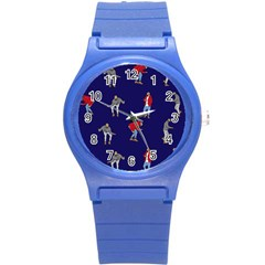 Drake Ugly Holiday Christmas Round Plastic Sport Watch (s) by Onesevenart