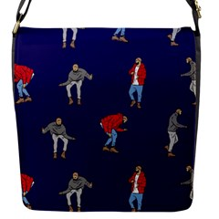 Drake Ugly Holiday Christmas Flap Messenger Bag (s) by Onesevenart