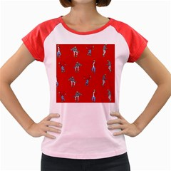 Drake Ugly Holiday Christmas   Women s Cap Sleeve T Shirt by Onesevenart