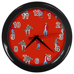 Drake Ugly Holiday Christmas   Wall Clocks (black) by Onesevenart