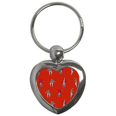 Drake Ugly Holiday Christmas   Key Chains (heart)  by Onesevenart