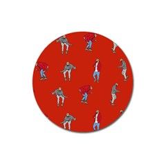 Drake Ugly Holiday Christmas   Magnet 3  (round) by Onesevenart