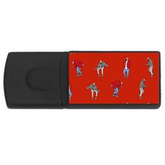 Drake Ugly Holiday Christmas   Usb Flash Drive Rectangular (4 Gb)  by Onesevenart