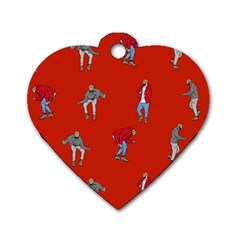 Drake Ugly Holiday Christmas   Dog Tag Heart (two Sides) by Onesevenart