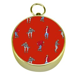 Drake Ugly Holiday Christmas   Gold Compasses by Onesevenart
