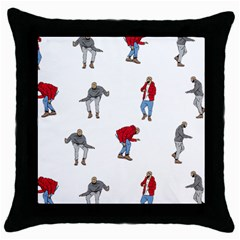 Drake Ugly Holiday Christmas Throw Pillow Case (black) by Onesevenart