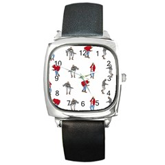 Drake Ugly Holiday Christmas Square Metal Watch by Onesevenart