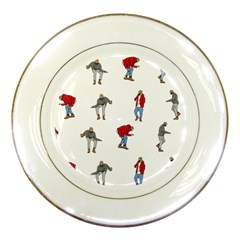 Drake Ugly Holiday Christmas Porcelain Plates by Onesevenart