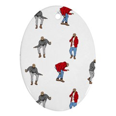Drake Ugly Holiday Christmas Oval Ornament (two Sides) by Onesevenart